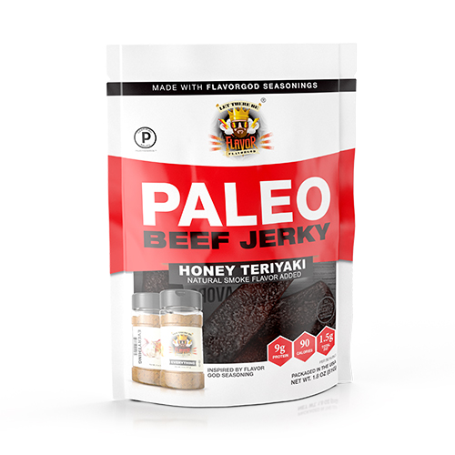 Flavor God Paleo Jerky - Honey Teriyaki