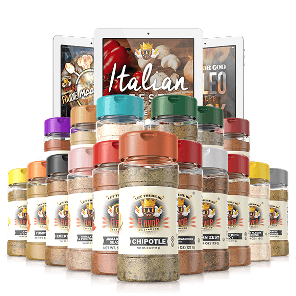 Flavorgod Chef Spice Rack (17 Pack)