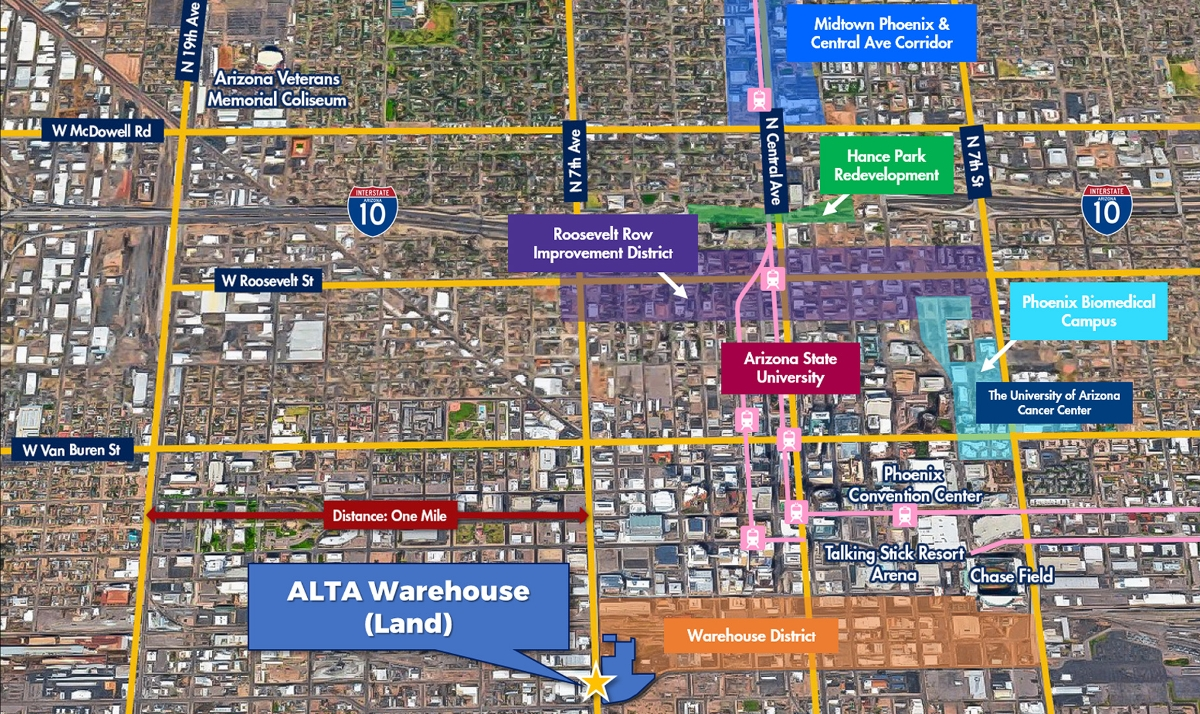 ALTA Warehouse (Land) | 600 West Lincoln Street, Phoenix, AZ 85003 | $6,080,000 | $19.04 Per Land SF