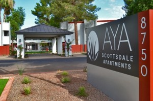 AYA Scottsdale Apartments | 8750 East McDowell Road, Scottsdale, AZ 85257 | 125 Units | Built in 1970 | $12,450,000 | $99,600 Per Unit | $141.78 Per SF