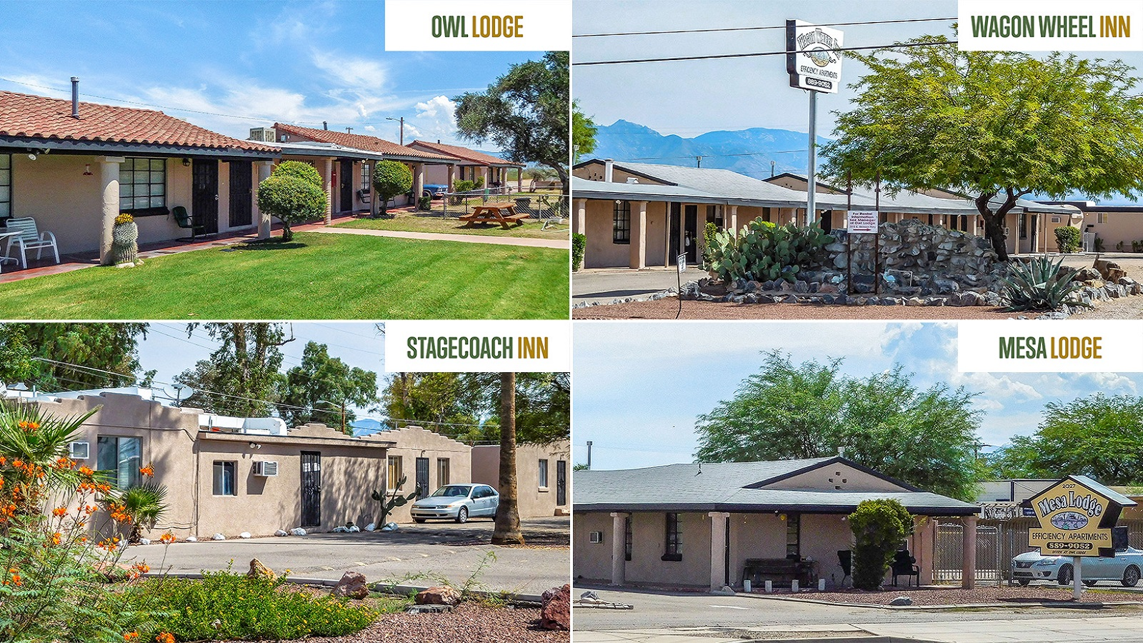 Tucson 55 Portfolio | 1431, 1951, 2015 & 2027 East Benson Hwy, Tucson, AZ 85714 | 55 Units | Built in 1948 and 1976 | $1,347,500 | $24,500 Per Unit | $46.07 Per SF