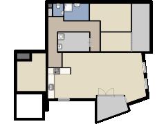 Pettelaarseweg 249 A, Den Bosch - Eerste ontwerp made with Floorplanner