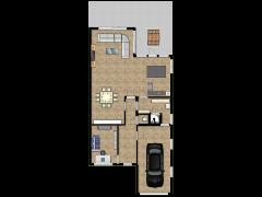 nils en mel - Eerste ontwerp made with Floorplanner