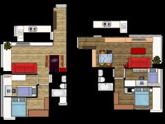 新建楼层计划 - 1-2F made with Floorplanner