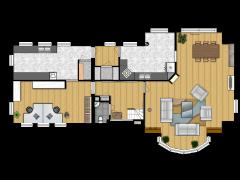 bhagyashree_delux practice - Eerste ontwerp made with Floorplanner