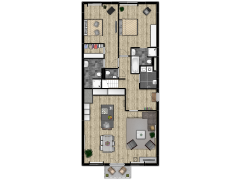 Residence Wijngaerde T3S 49 - Begane grond lamel made with Floorplanner