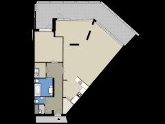 Oude Bennekomseweg 15 - Appartement made with Floorplanner