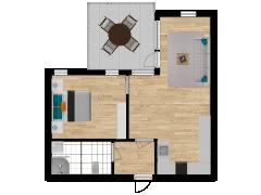 Inviso #254300 / FloorPlan #57300 - Inviso #254300 / FloorPlan #57300 made with Floorplanner