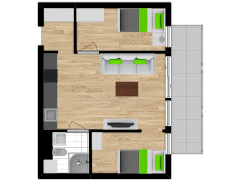 Inviso #254742 / FloorPlan #57533 - Inviso #254742 / FloorPlan #57533 made with Floorplanner