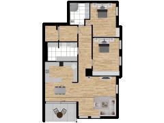 Inviso #254430 / FloorPlan #57563 - Inviso #254430 / FloorPlan #57563 made with Floorplanner