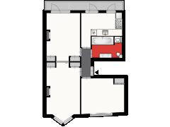 Admiraal de Ruijterweg 307-II, Amsterdam - Admiraal de Ruijterweg 307-II, Amsterdam made with Floorplanner