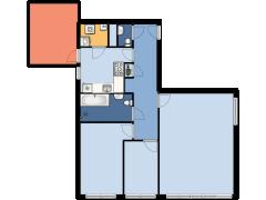 Laan der VOC 326 - Laan der VOC 326 made with Floorplanner