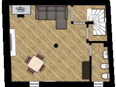 Casa - Via Umberto I, Pralormo - Casa - Via Umberto I, Pralormo made with Floorplanner