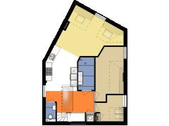 4305 - S&H - Nieuwe Achtergracht 117-IV - Amsterdam - 4305 - S&H - Nieuwe Achtergracht 117-IV - Amsterdam made with Floorplanner