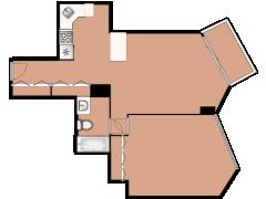 111 W Maple Street 906 - 111 W Maple Street 906 made with Floorplanner