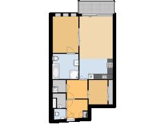 Merelstraat 3a(De Woudenhof Makelaars ) - Merelstraat 3a(De Woudenhof Makelaars ) made with Floorplanner