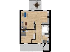 Inviso #262307 / FloorPlan #62848 - Inviso #262307 / FloorPlan #62848 made with Floorplanner