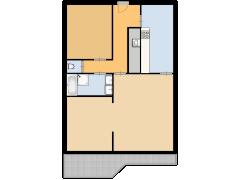 Marthalaan 2-303 - Marthalaan 2-303 made with Floorplanner