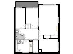 Vrijheidslaan 103 - Vrijheidslaan 103 made with Floorplanner