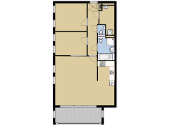 de Wiekslag 3 402 - de Wiekslag 3 402 made with Floorplanner