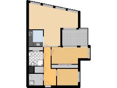 Draai 47, Dordrecht - Draai 47, Dordrecht made with Floorplanner