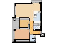 Thamerhorn 74 Uithoorn  - Thamerhorn 74 Uithoorn  made with Floorplanner