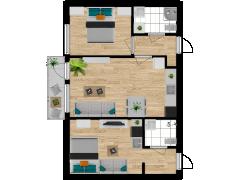 Inviso #277904 / FloorPlan #74075 - Inviso #277904 / FloorPlan #74075 made with Floorplanner