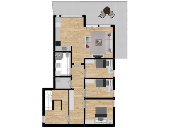 Inviso #277890 / FloorPlan #74076 - Inviso #277890 / FloorPlan #74076 made with Floorplanner
