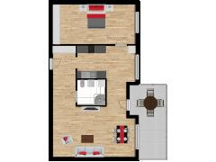 Inviso #275241 / FloorPlan #76396 - Inviso #275241 / FloorPlan #76396 made with Floorplanner