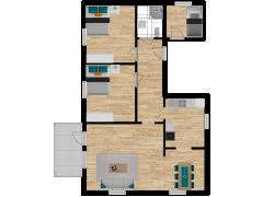 Inviso #278932 / FloorPlan #76508 - Inviso #278932 / FloorPlan #76508 made with Floorplanner
