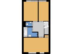 Admiralengracht 119E, Amsterdam - Admiralengracht 119E, Amsterdam made with Floorplanner