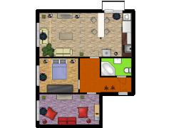 3+1 Kosmonatů 86969 - 3+1 Kosmonatů 86969 made with Floorplanner