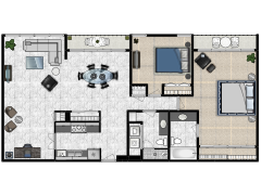 Colony House #404 - Colony House #404 made with Floorplanner
