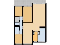 Smetanalaan 304 Groenhout Makelaardij - Smetanalaan 304 Groenhout Makelaardij made with Floorplanner