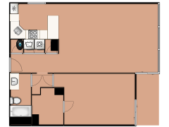 201 E Chestnut St 21F - 201 E Chestnut St 21F made with Floorplanner