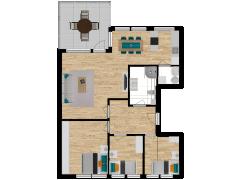 Inviso #296256 / FloorPlan #87427 - Inviso #296256 / FloorPlan #87427 made with Floorplanner