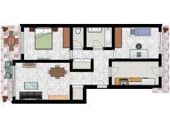 B-E0VUSM (copy) - B-E0VUSM (copy) made with Floorplanner