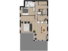 Polderstaete appartement 2 - Polderstaete appartement 2 made with Floorplanner