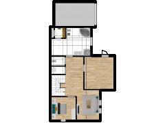 Inviso #302689 / FloorPlan #91538 - Inviso #302689 / FloorPlan #91538 made with Floorplanner