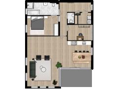 Polderstaete appartement 6 - Polderstaete appartement 6 made with Floorplanner