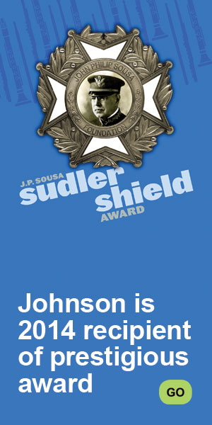 Johnson is recipient of 2014 Sudler Shield Award