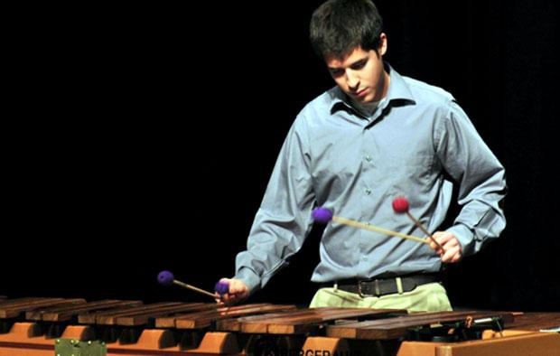 Robert Lozano on percussion