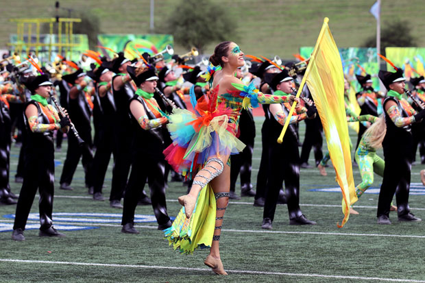 CTJ performs at the Rough Rider Marching Contest
