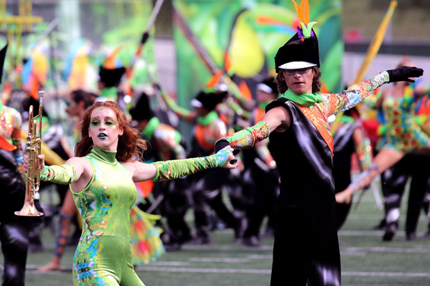 CTJ performs in the Rough Rider Marching Contest