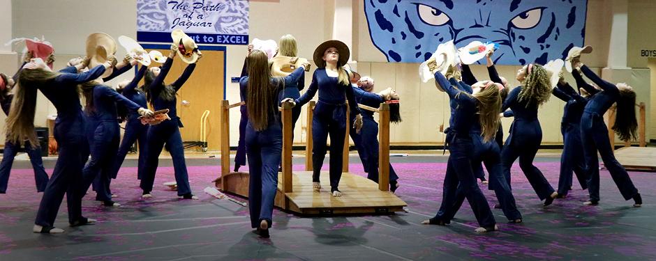 CTJ Winter Guard Performing 'Lady Bird'