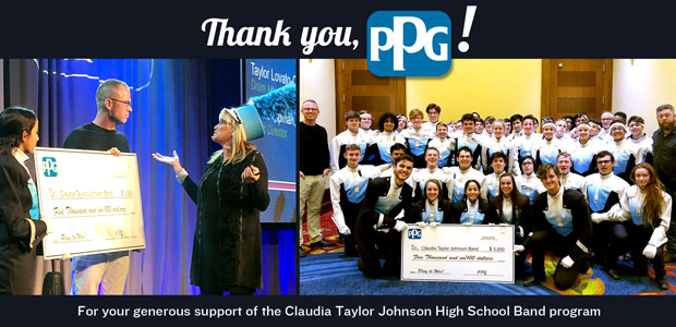 CTJ Thanks PPG for its support of our program