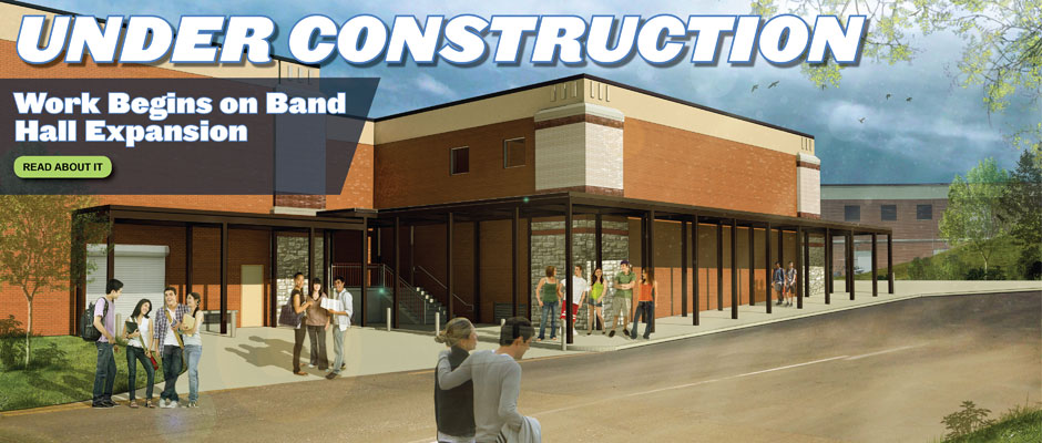 Construction begins on CTJ Band Hall expansion