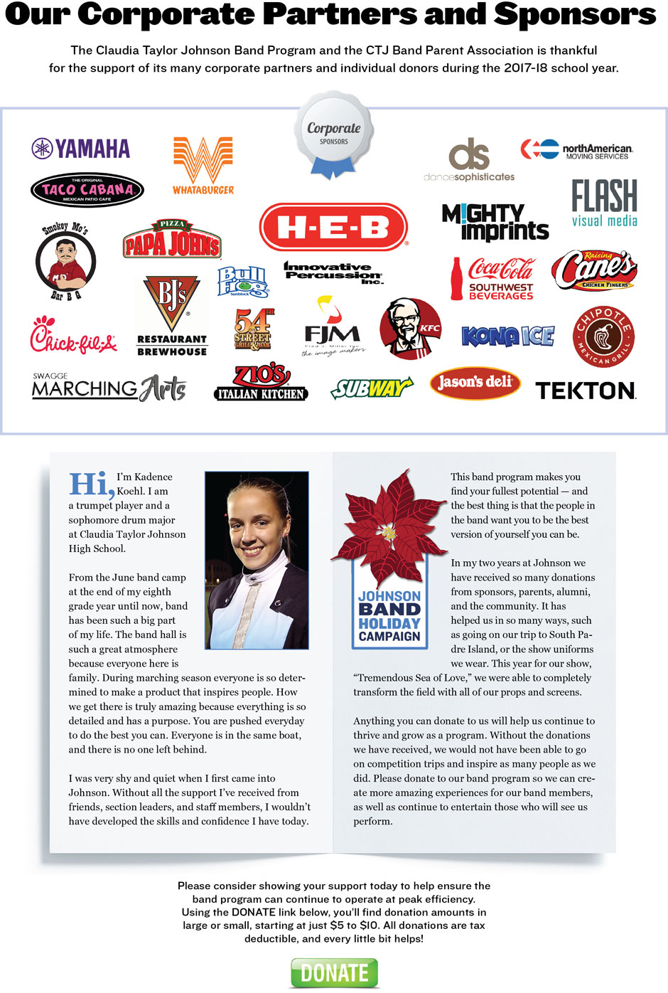 CTJ Sponsors and the Johnson Holiday Campaign