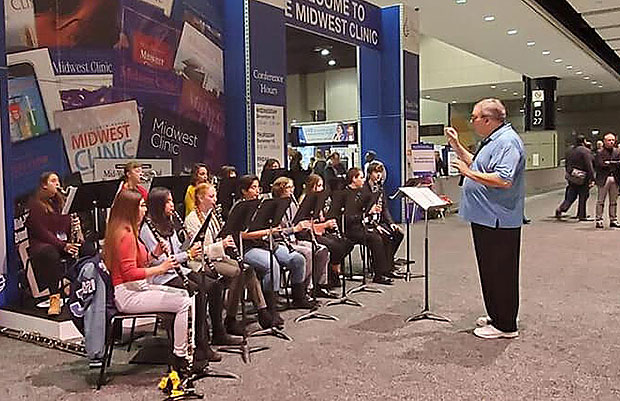 Johnson Clarinet Choir at the 2019 Midwest Clinic