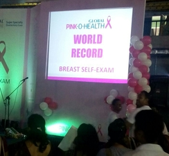 World Record for max Breast Self Examination 1day
